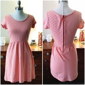 Maison Jules orange polka dot dress